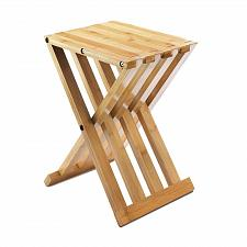"Buy *18322U - Bamboo Wood 16"" Foldable Stool Max Wgt 330lbs"
