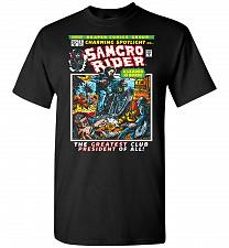 Buy Born Leader Samcro Rider Unisex T-Shirt Pop Culture Graphic Tee (4XL/Black) Humor Fun
