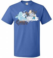 Buy Chrono Throne Unisex T-Shirt Pop Culture Graphic Tee (6XL/Royal) Humor Funny Nerdy Ge