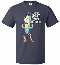 Buy The Great Poopy Buttholio Unisex T-Shirt Pop Culture Graphic Tee (M/J Navy) Humor Fun