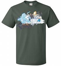 Buy Chrono Throne Unisex T-Shirt Pop Culture Graphic Tee (2XL/Forest Green) Humor Funny N