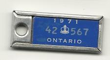 Buy 1971 License Plate War Amps Key Tag Ontario 42 567 Key Fob Vintage