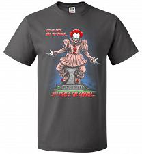Buy Pennywise The Dancing Clown Adult Unisex T-Shirt Pop Culture Graphic Tee (2XL/Charcoa