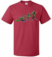 Buy Pickle Rick Evolution Unisex T-Shirt Pop Culture Graphic Tee (4XL/True Red) Humor Fun