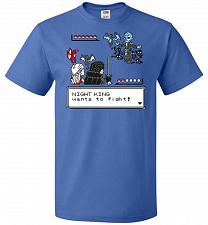 Buy Throne Battle 2 Unisex T-Shirt Pop Culture Graphic Tee (XL/Royal) Humor Funny Nerdy G