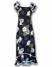 Buy Black Ka Pua Long Muumuu Hawaiian Dress #334-2798 size LARGE