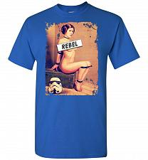 Buy Princess Leia Rebel Unisex T-Shirt Pop Culture Graphic Tee (XL/Royal) Humor Funny Ner