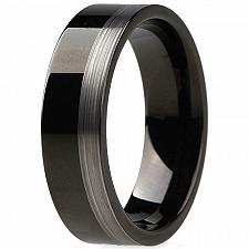 Buy coi Jewelry Tungsten Carbide Pipe Cut Wedding Band Ring