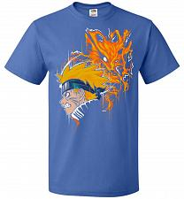 Buy Demon Fox Unisex T-Shirt Pop Culture Graphic Tee (M/Royal) Humor Funny Nerdy Geeky Sh