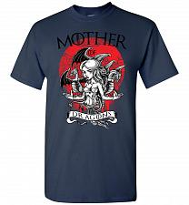 Buy Mother of Dragons Unisex T-Shirt Pop Culture Graphic Tee (S/Navy) Humor Funny Nerdy G