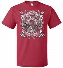 Buy Fantastic Crest Unisex T-Shirt Pop Culture Graphic Tee (4XL/True Red) Humor Funny Ner