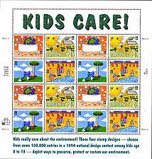 Buy 1995 32c Earth Day/Kids Care, Sheet of 16 Scott 2951-54 Mint F/VF NH