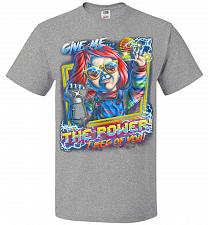 Buy Give Me The Power Chucky Adult Unisex T-Shirt Pop Culture Graphic Tee (S/Athletic Hea