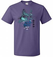 Buy Watercolor Totoro Unisex T-Shirt Pop Culture Graphic Tee (4XL/Purple) Humor Funny Ner