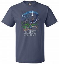 Buy Alien Wars Unisex T-Shirt Pop Culture Graphic Tee (XL/Denim) Humor Funny Nerdy Geeky