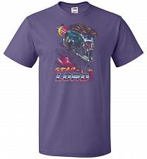 Buy Retro Star Lord Unisex T-Shirt Pop Culture Graphic Tee (4XL/Purple) Humor Funny Nerdy