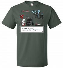 Buy Throne Battle 2 Unisex T-Shirt Pop Culture Graphic Tee (3XL/Forest Green) Humor Funny