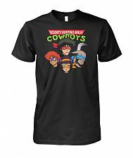 Buy Bounty Hunting Ninja Cowboys Unisex T-Shirt Pop Culture Graphic Tee (4XL/Black) Humor