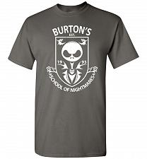 Buy Burton's School Of Nightmares Unisex T-Shirt Pop Culture Graphic Tee (S/Charcoal) Hum