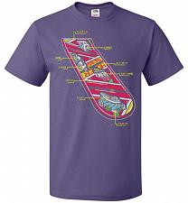 Buy Anatomy Of A Hover Board Unisex T-Shirt Pop Culture Graphic Tee (6XL/Purple) Humor Fu