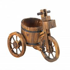 Buy *15794U - Water Barrel Fir Wood Tricycle Planter Yard Art