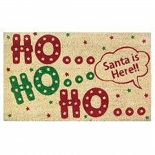 "Buy *18119U - Ho Ho Ho Welcome Coir & PVC Door Mat 30""x18"""