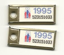 Buy War Amps Key Tag Ontario 1995 License Plate PAIR 523151033 Key Fob Tags