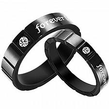 Buy coi Jewelry Black Tungsten Carbide Ring - TG2820(Size US4.5)
