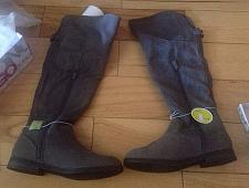 Buy NEW!! Bongo Women's Addison Over the Knee Riding BOOTS size 6.5 Grey SHOES Suede