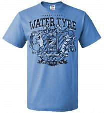 Buy Water Type Champ Pokemon Unisex T-Shirt Pop Culture Graphic Tee (L/Columbia Blue) Hum