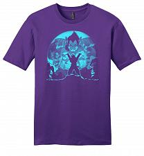 Buy Saiyan Sized Secret Youth Unisex T-Shirt Pop Culture Graphic Tee (M/Purple) Humor Fun