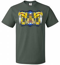 Buy Yellow Ranger Unisex T-Shirt Pop Culture Graphic Tee (S/Forest Green) Humor Funny Ner