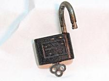 Buy Old Yale The Junior Vulcan Lock with Key Padlock Collector Collectible 2 inch