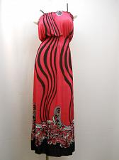 Buy Women Dress Maxi Halter Size M Fuchsia Spaghetti Strap Full Length