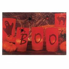 Buy *17688U - Boo Halloween LED Light Canvas Wall Art