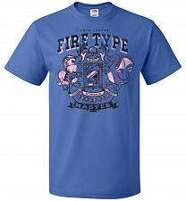 Buy Fire Type Champ Pokemon Unisex T-Shirt Pop Culture Graphic Tee (2XL/Royal) Humor Funn