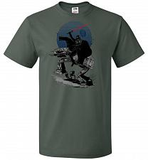 Buy Crossing The Dark Path Unisex T-Shirt Pop Culture Graphic Tee (4XL/Forest Green) Humo