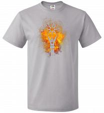 Buy Praise The Sun Art Unisex T-Shirt Pop Culture Graphic Tee (M/Silver) Humor Funny Nerd
