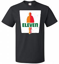 Buy 0-Eleven Unisex T-Shirt Pop Culture Graphic Tee (2XL/Black) Humor Funny Nerdy Geeky S