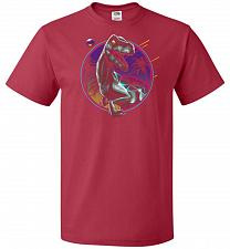 Buy Rad Velociraptor Unisex T-Shirt Pop Culture Graphic Tee (XL/True Red) Humor Funny Ner