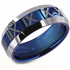 Buy coi Jewelry Titanium Wedding Band Ring With Roman Numerals