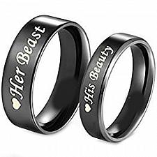 Buy coi Jewelry Tungsten Carbide Beauty Beast Wedding Band Ring