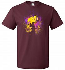 Buy Dragneel Art Unisex T-Shirt Pop Culture Graphic Tee (L/Maroon) Humor Funny Nerdy Geek