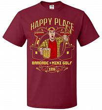 Buy Gilmore's Happy Place Adult Unisex T-Shirt Pop Culture Graphic Tee (4XL/Cardinal) Hum