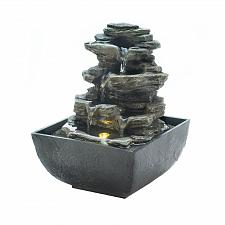 Buy *18474U - Tiered Rock Formation Tabletop Tranquility Water Fountain w/LED Light