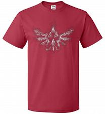 Buy Triforce Smoke Unisex T-Shirt Pop Culture Graphic Tee (5XL/True Red) Humor Funny Nerd