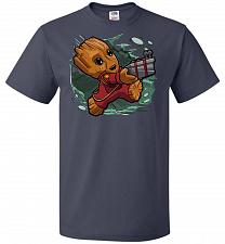 Buy Tiny Groot Unisex T-Shirt Pop Culture Graphic Tee (S/J Navy) Humor Funny Nerdy Geeky
