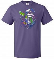 Buy Epic Green Dragon Unisex T-Shirt Pop Culture Graphic Tee (4XL/Purple) Humor Funny Ner