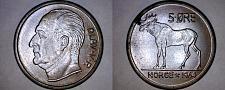 Buy 1964 Norwegian 5 Ore World Coin - Norway - Moose