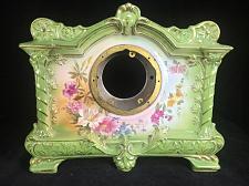 Buy Antique Green Floral Handpainted 1755 Royal-Bonn Porcelain Clock Case 14 x11 x5